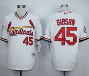 Wholesale Cheap Cardinals #45 Bob Gibson White 1982 Turn Back The Clock Stitched MLB Jersey