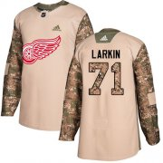 Wholesale Cheap Adidas Red Wings #71 Dylan Larkin Camo Authentic 2017 Veterans Day Stitched Youth NHL Jersey