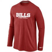 Wholesale Cheap Nike Buffalo Bills Authentic Font Long Sleeve T-Shirt Red