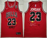 Wholesale Cheap Men's Chicago Bulls #23 Michael Jordan Red 85 Anniversary Nike Swingman Jersey