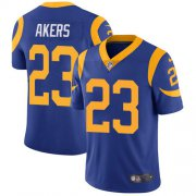 Wholesale Cheap Nike Rams #23 Cam Akers Royal Blue Alternate Men's Stitched NFL Vapor Untouchable Limited Jersey