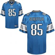 Wholesale Cheap Lions #85 Tony Scheffler Blue Stitched NFL Jersey