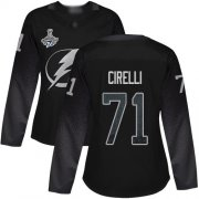 Cheap Adidas Lightning #71 Anthony Cirelli Black Alternate Authentic Women's 2020 Stanley Cup Champions Stitched NHL Jersey
