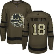 Wholesale Cheap Adidas Islanders #18 Anthony Beauvillier Green Salute to Service Stitched Youth NHL Jersey