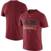 Wholesale Cheap Arizona Diamondbacks Nike Away Practice T-Shirt Crimson