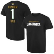 Wholesale Cheap Men's Jacksonville Jaguars Pro Line College Number 1 Dad T-Shirt Black