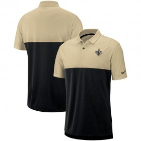Wholesale Cheap New Orleans Saints Nike Sideline Early Season Performance Polo Gold Black