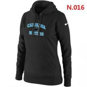 Wholesale Cheap Women's Nike Carolina Panthers Heart & Soul Pullover Hoodie Black