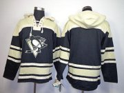 Wholesale Cheap Penguins Blank Black Sawyer Hooded Sweatshirt Stitched NHL Jersey