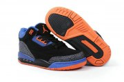 Wholesale Cheap Air Jordan III Kid Shoes Blue/Black/Orange