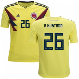 Wholesale Cheap Colombia #26 A. Hurtado Home Kid Soccer Country Jersey