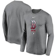 Wholesale Cheap Men's Boston Red Sox Nike Charcoal Authentic Collection Legend Performance Long Sleeve T-Shirt