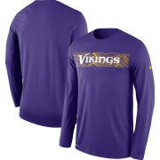 Wholesale Cheap Minnesota Vikings Nike Sideline Seismic Legend Long Sleeve T-Shirt Purple
