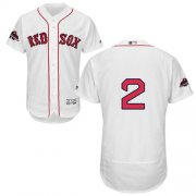 Wholesale Cheap Red Sox #2 Xander Bogaerts White Flexbase Authentic Collection 2018 World Series Champions Stitched MLB Jersey