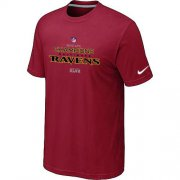 Wholesale Cheap Men's Nike Baltimore Ravens 2012 AFC Conference Champions Trophy Collection Long T-Shirt Red