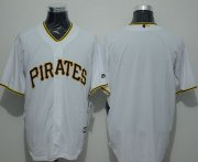 Wholesale Cheap Pirates Blank White New Cool Base Stitched MLB Jersey
