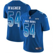 Wholesale Cheap Nike Seahawks #54 Bobby Wagner Royal Men's Stitched NFL Limited NFC 2018 Pro Bowl Jersey