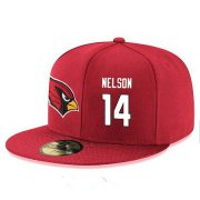 Wholesale Cheap Arizona Cardinals #14 J.J. Nelson Snapback Cap NFL Player Red with White Number Stitched Hat