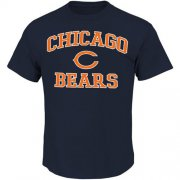 Wholesale Cheap Chicago Bears Majestic Big and Tall Heart & Soul III T-Shirt Navy Blue