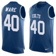 Wholesale Cheap Nike Colts #40 Spencer Ware Royal Blue Team Color Men's Stitched NFL Limited Tank Top Jersey