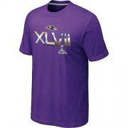 Wholesale Cheap Men's Baltimore Ravens 2012 Super Bowl XLVII On Our Way T-Shirt Purple