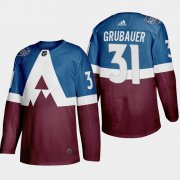 Wholesale Cheap Adidas Colorado Avalanche #31 Philipp Grubauer Men's 2020 Stadium Series Burgundy Stitched NHL Jersey