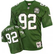 Wholesale Cheap Mitchell&Ness Eagles #92 Reggie White Green Stitched Throwback NFL Jersey
