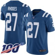Wholesale Cheap Nike Colts #27 Xavier Rhodes Royal Blue Team Color Youth Stitched NFL 100th Season Vapor Untouchable Limited Jersey
