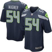 Wholesale Nike Seahawks #54 Bobby Wagner Steel Blue Team Color Youth Stitched NFL Elite Jersey