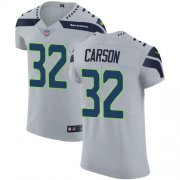 Wholesale Cheap Nike Seahawks #32 Chris Carson Grey Alternate Men's Stitched NFL Vapor Untouchable Elite Jersey