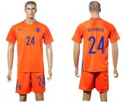 Wholesale Cheap Holland #24 Vermeer Home Soccer Country Jersey