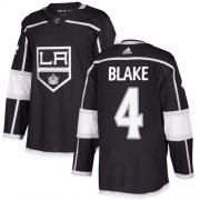 Wholesale Cheap Adidas Kings #4 Rob Blake Black Home Authentic Stitched NHL Jersey