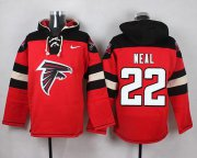 Wholesale Cheap Nike Falcons #22 Keanu Neal Red Player Pullover NFL Hoodie