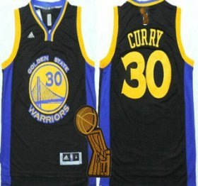 Wholesale Cheap Golden State Warriors #30 Stephen Curry Revolution 30 Swingman 2014 New Black Jersey