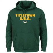 Wholesale Cheap Green Bay Packers Majestic Hot Phrase Pullover Hoodie Green