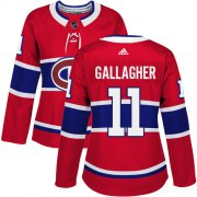 Wholesale Cheap Adidas Canadiens #11 Brendan Gallagher Red Home Authentic Women's Stitched NHL Jersey