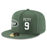 Wholesale Cheap New York Jets #9 Bryce Petty Snapback Cap NFL Player Green with White Number Stitched Hat