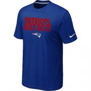 Wholesale Cheap Nike New England Patriots Just Do It Blue T-Shirt