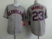 Wholesale Cheap Indians #23 Michael Brantley Grey Cool Base Stitched MLB Jersey