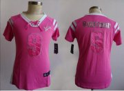 Wholesale Nike Lions #9 Matthew Stafford Pink Women's Stitched NFL Elite Draft Him Shimmer Jersey
