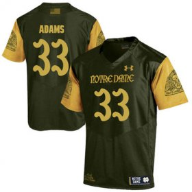 Wholesale Cheap Notre Dame Fighting Irish 33 Josh Adams Olive Green College Football Jersey