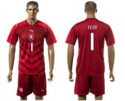 Wholesale Cheap Czech #1 Cech Red Home Soccer Country Jersey