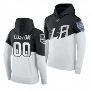 Wholesale Cheap Adidas Los Angeles Kings Custom Men's 2020 Stadium Series White Black NHL Hoodie