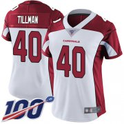 Wholesale Cheap Nike Cardinals #40 Pat Tillman White Women's Stitched NFL 100th Season Vapor Limited Jersey