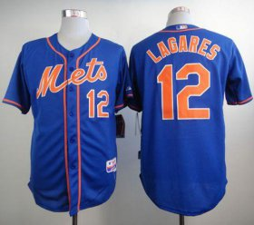 Wholesale Cheap Mets #12 Juan Lagares Blue Alternate Home Cool Base Stitched MLB Jersey
