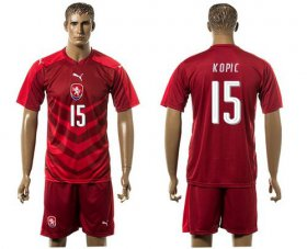 Wholesale Cheap Czech #15 Kopic Red Home Soccer Country Jersey