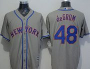 Wholesale Cheap Mets #48 Jacob DeGrom Grey New Cool Base Stitched MLB Jersey