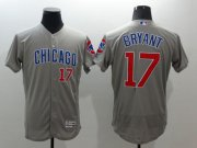 Wholesale Cubs #17 Kris Bryant Grey Flexbase Authentic Collection Road Stitched Baseball Jersey