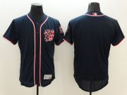 Wholesale Cheap Nationals Blank Navy Blue Flexbase Authentic Collection Stitched MLB Jersey