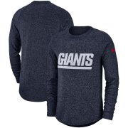 Wholesale Cheap New York Giants Nike Fan Gear Marled Historic Raglan Long Sleeve T-Shirt Navy